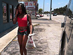 Pic of Kennedy Monroe in bangbus episode: Ghetto Black Girl Gives Up Ass for Cash on BangBus