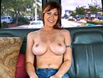 Pic of Alessa Snow in bangbus episode: Big tit redhead begs for anal threesome