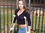 Pic of Amber in bangbus episode: The Crutch Master!