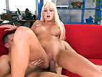 Pic of Rikki Six in bigtitcreampie episode: Blonde with big tits loves cum in her pussy