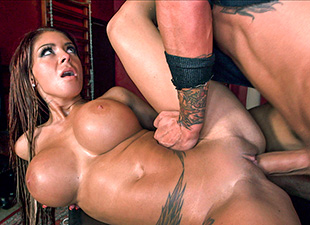Busty Dominatrix Receives Creampie In Her Dungeon