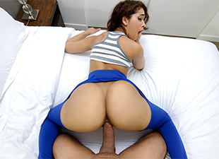 BrownBunnies – Ripping Kittys Yoga Pants to free that Big Bootie – Kitty Catherine