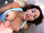 brownbunnies: Black Hottie With Big Natural Tits