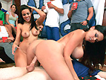 Pic of Rachel Roxxx in dorminvasion episode: BangBros PornStars make this a college fuckfest