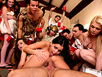 Pic of Rachel Roxxx in dorminvasion episode: Toga Party BangBros Style