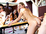 fuckteamfive: AlleyWay Dumpster Diving w/Lyla Storm, Britney Stevens & Lizzy London