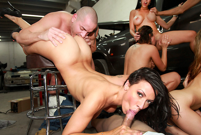 Rachel Starr, Diamond Kitty, Anastasia Morna, Alexis Fawx group sex video from Fuck Team Five