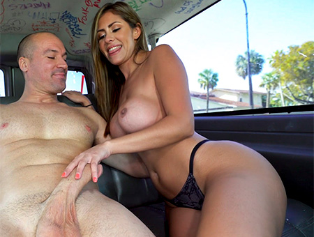 Sexy Realtor Rides on The Bus