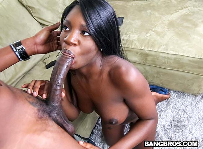 Big Tits Ebony White Dick