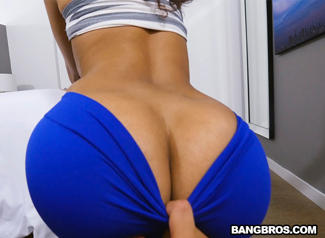 Brown pants yoga ass big