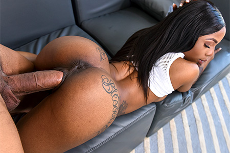 Deep core ebony sex