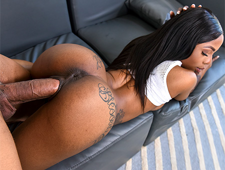 Ebony Sarah Gets Fucked Deep