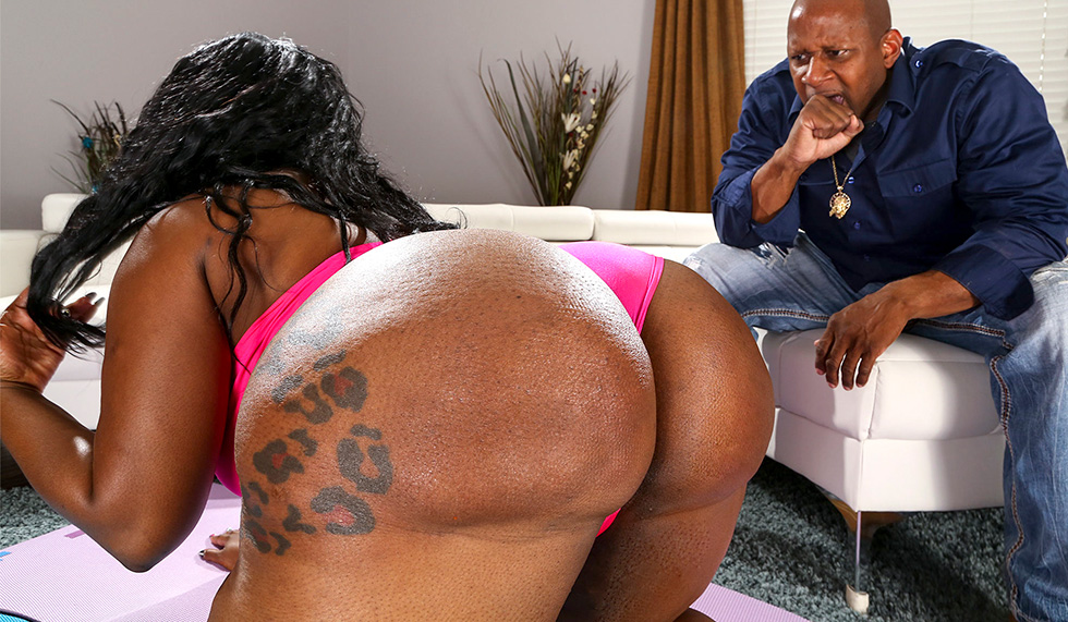 Thick Booty Ebony Backshots
