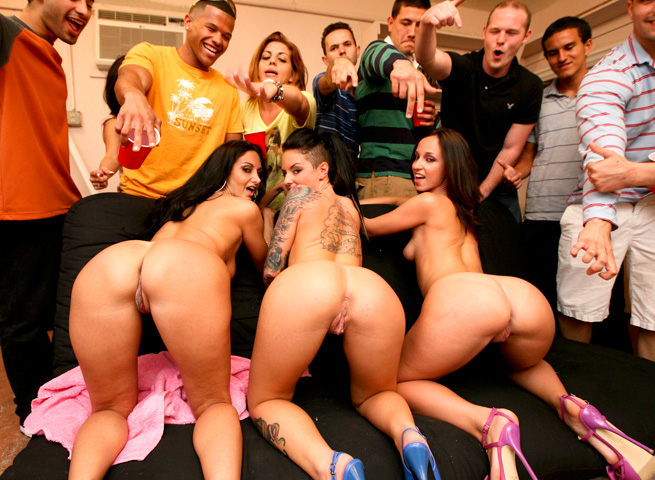 College Orgy Group Sex Party